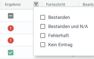 Statusfilter