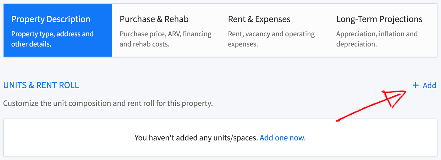 New multi-family property wizard - add a new unit type
