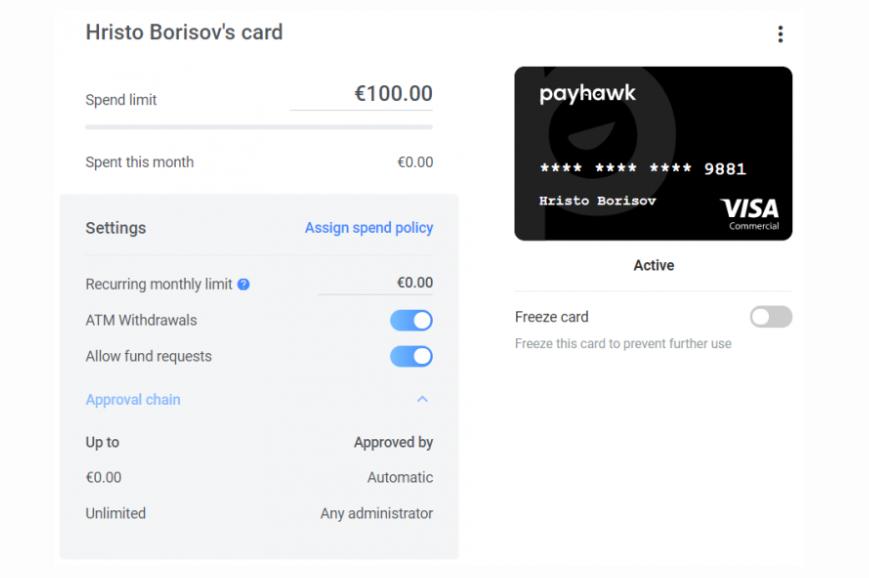 spend policies in Payhawk