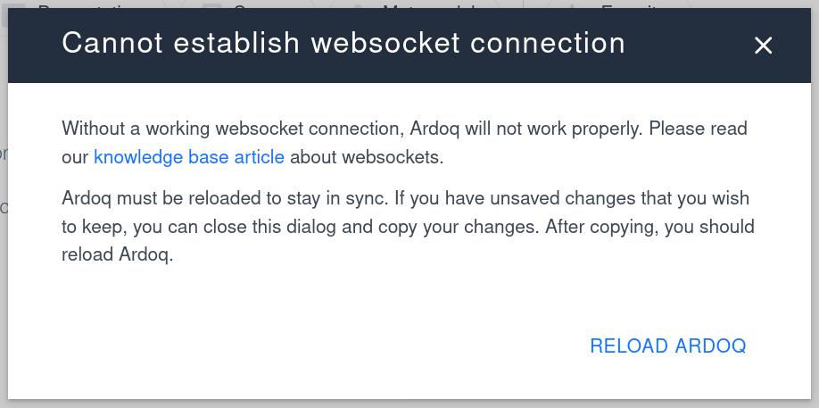 Ardoq websockets