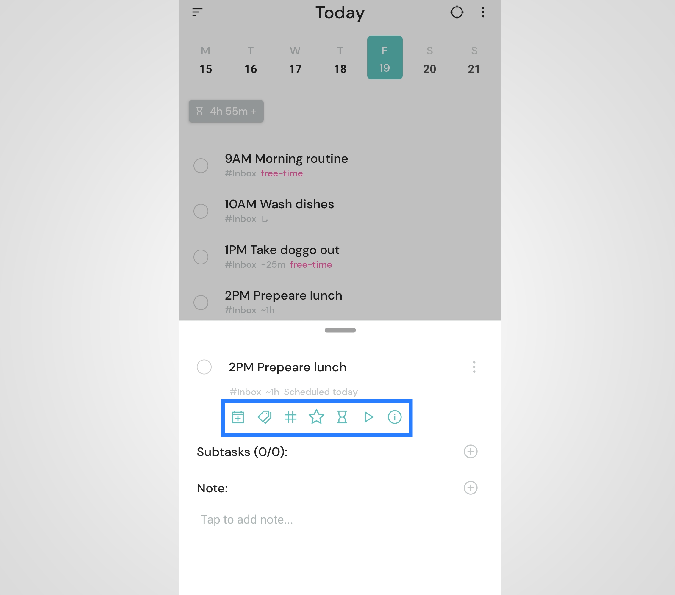 Quick Edit Actions - editing tasks quickly