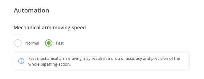 Increase automation speed