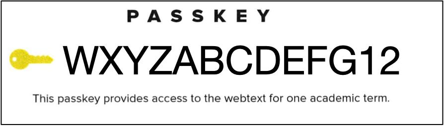 Sample passkey