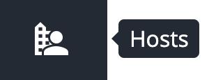 hosts button in the sine dashboard