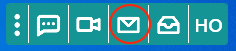 The Healthcare Messenger icon on the toolbar