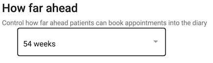 Dentally Patient Portal future appointment limits