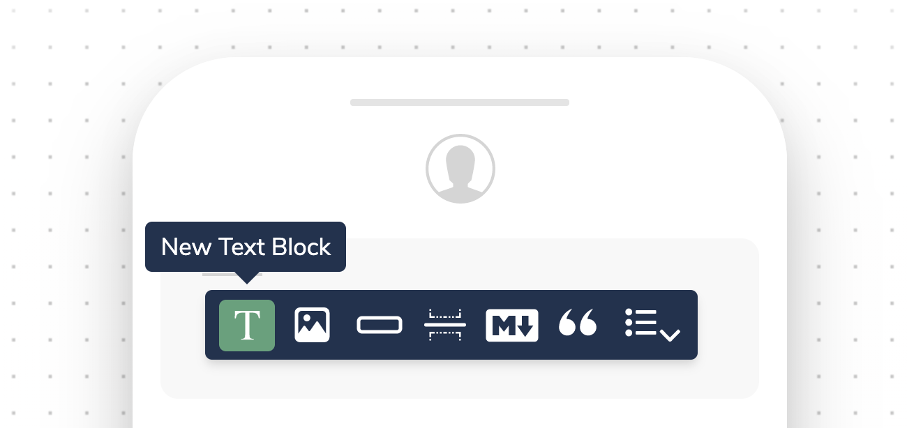Adding a Text block using the Courier design toolbar.