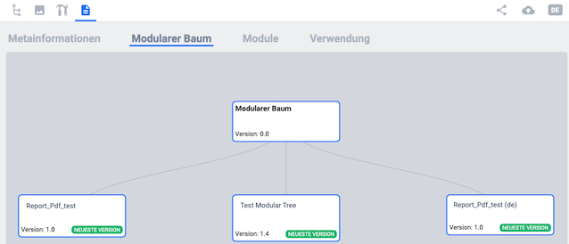 Modularer Baum im Editor