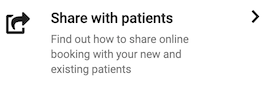 Dentally Patient Portal Dashboard Share with Patients