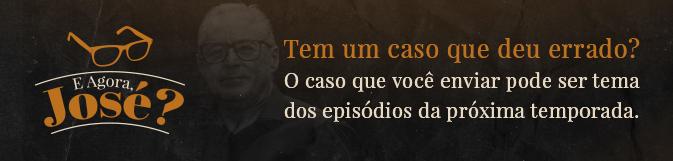 Banner apresentando a possibilidade de enviar um caso clínico para ser tema de episódio da próxima temporada de E Agora, José?