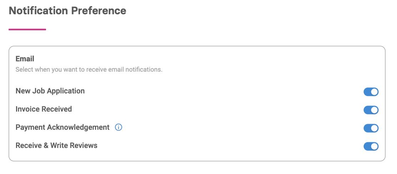 Managing dental practice notification preferences