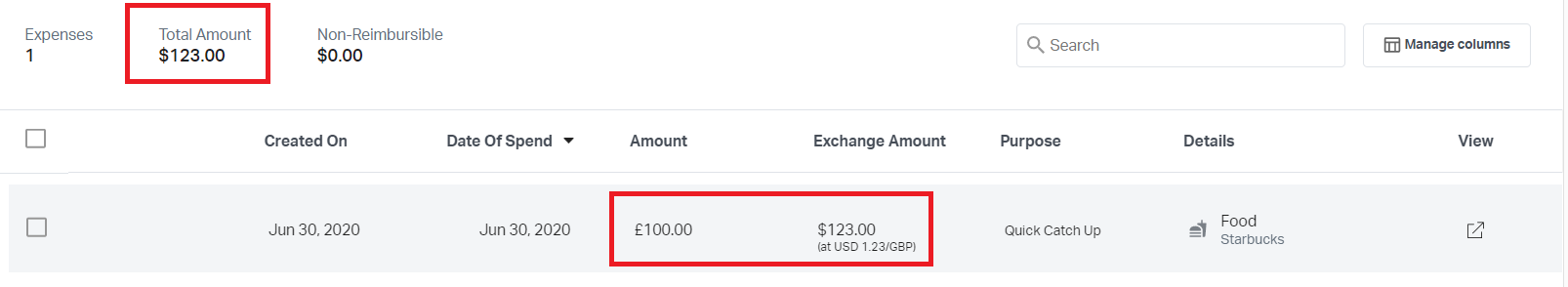 Expenses created in foreign currency on Fyle
