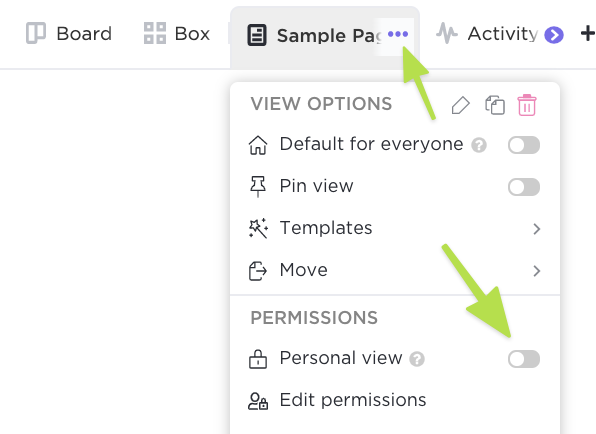 Showing how to make a Doc view Personal