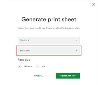 Generate print sheet