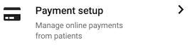 Dentally Patient Portal Settings Payment Setup