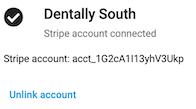 Dentally Patient Portal Stripe account added