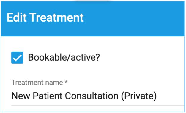 Dentally Patient Portal Edit treatment field
