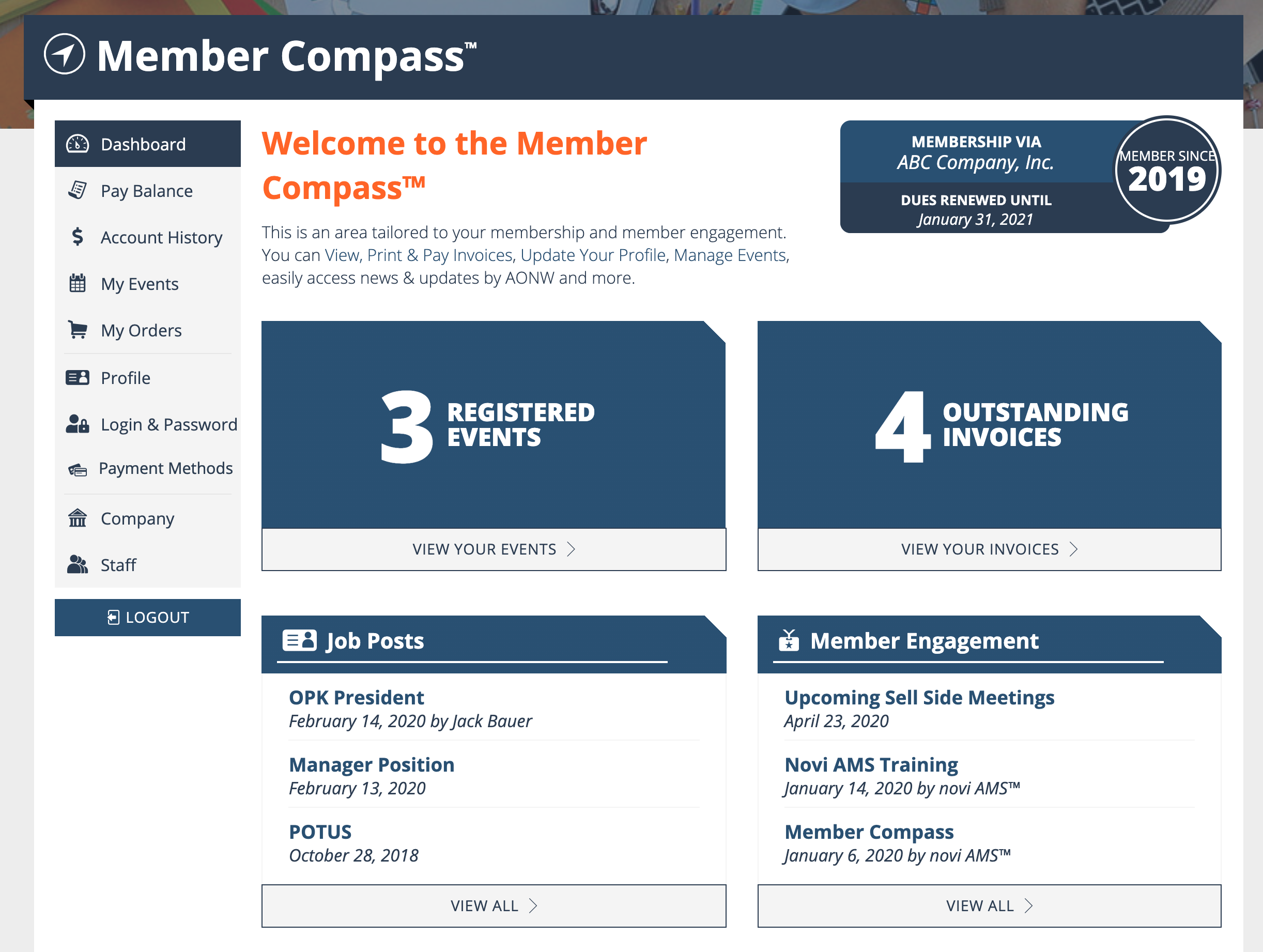 Member Compass Dashboard