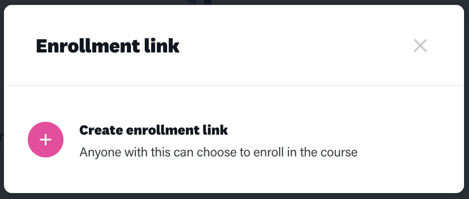 Online training platform enrollment link