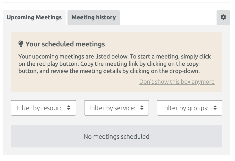 MeetMe App home screen
