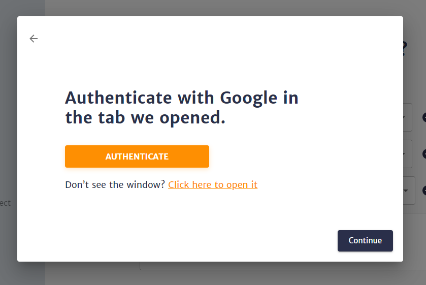 Authenticate an additional account through the