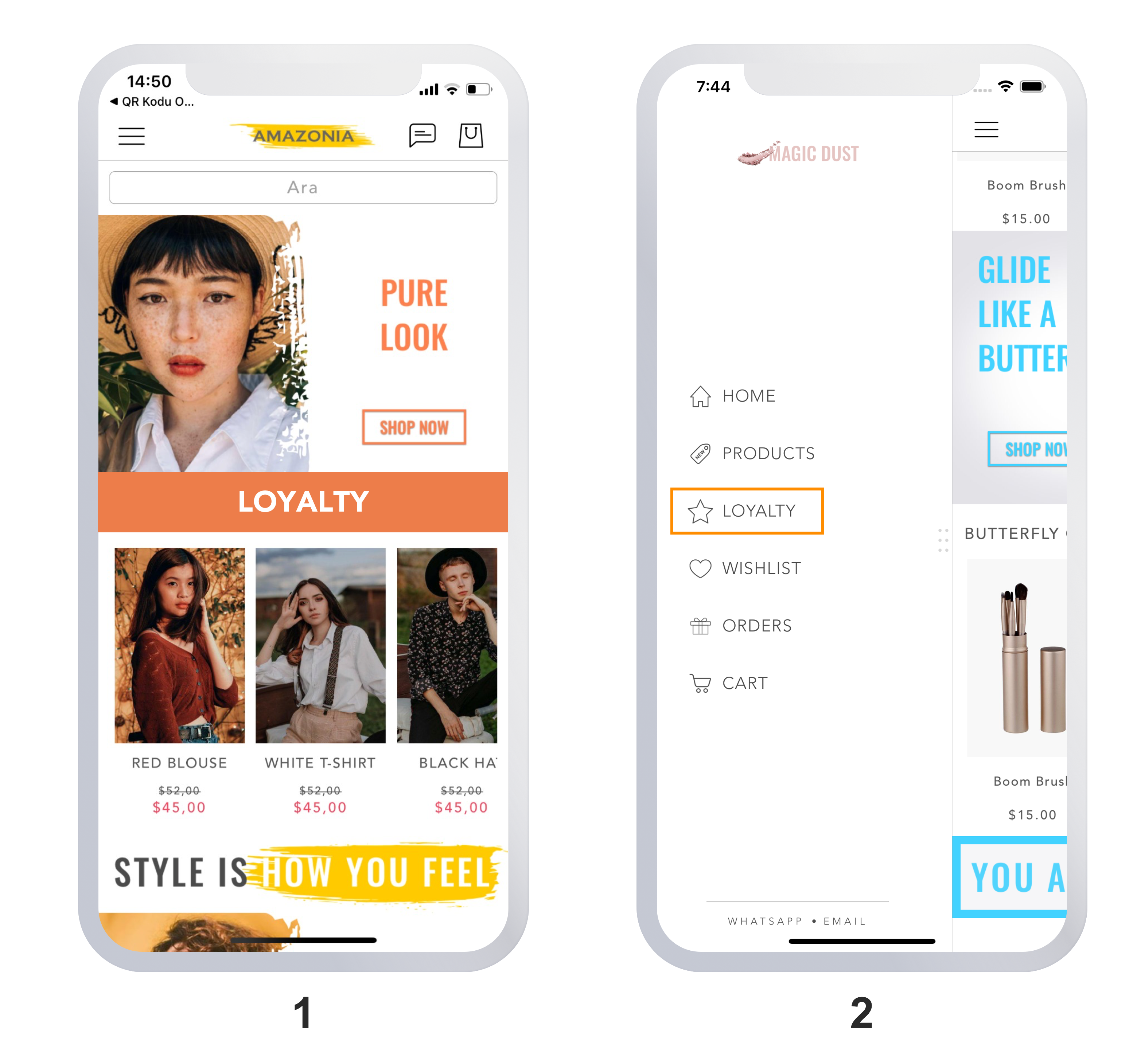 mobile shopping loyalty example