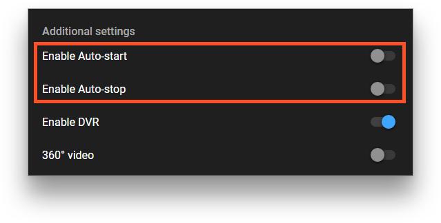 Autostart options