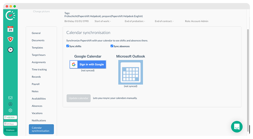 Connect you roster to your Google Calendar