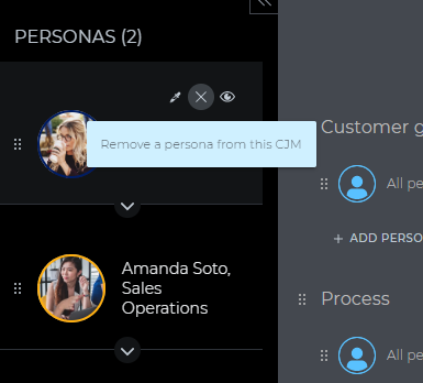 remove personas from a journey map