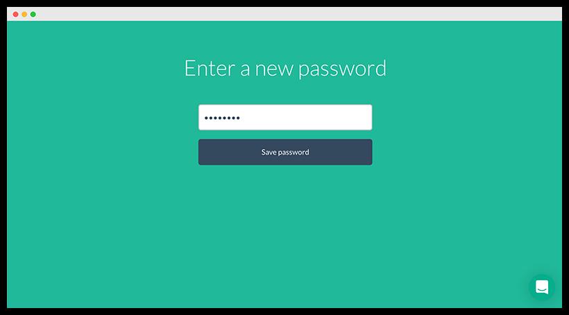 Enter a new password