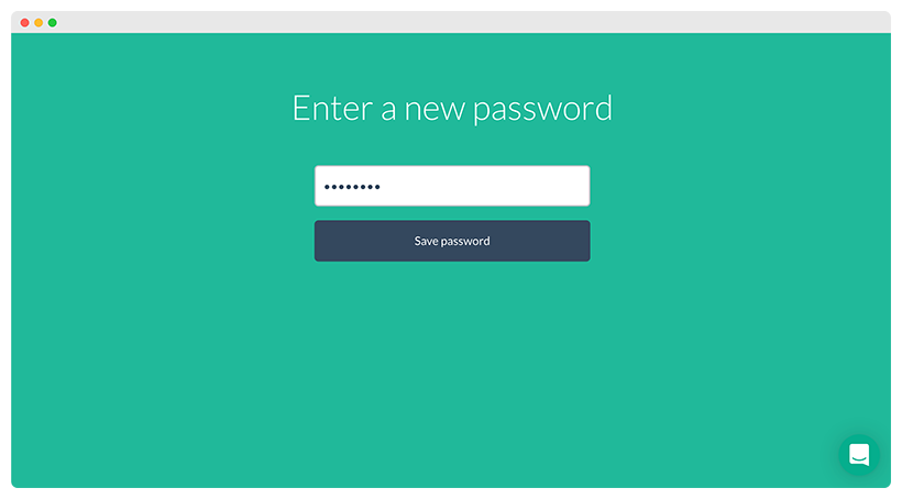 Set a new password