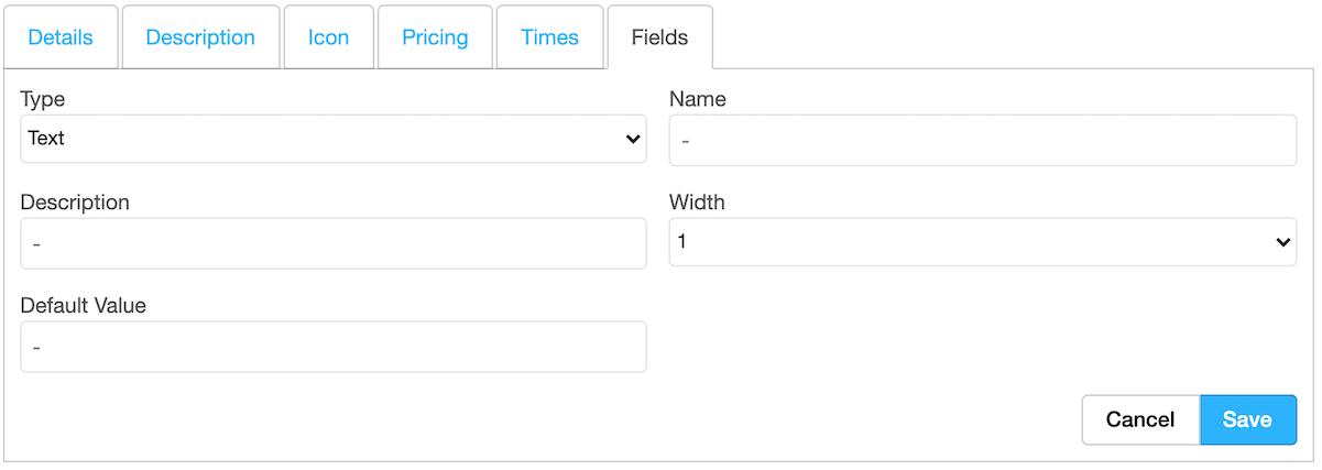 Dentally Custom Fields initial field settings