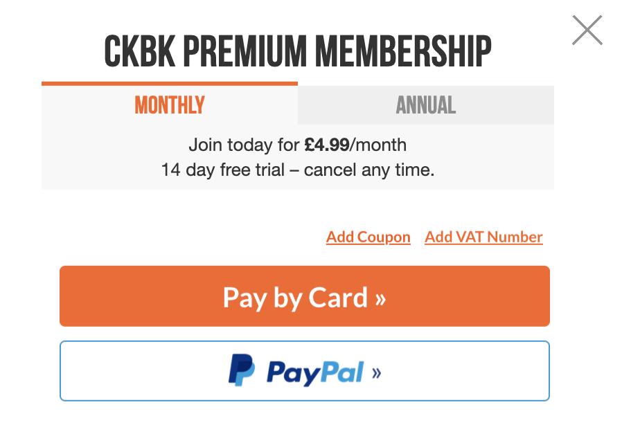 Screenshot showing link to Add coupon