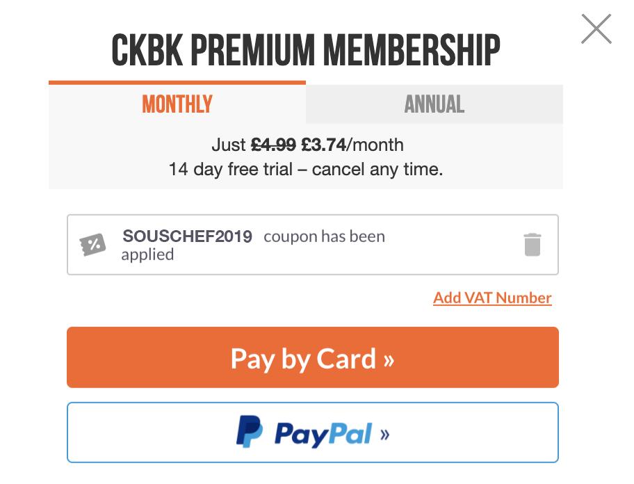 Screenshot showing discount has been applied