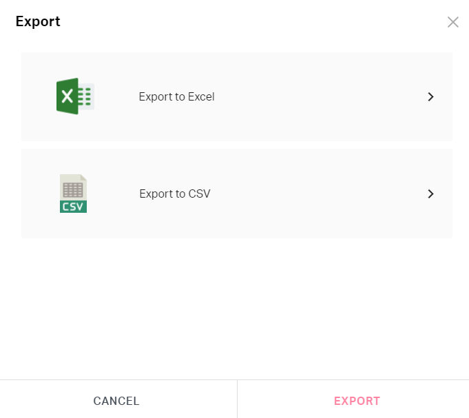 Exports expenses to file formats