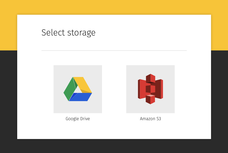 Selecting storage in Pics.io