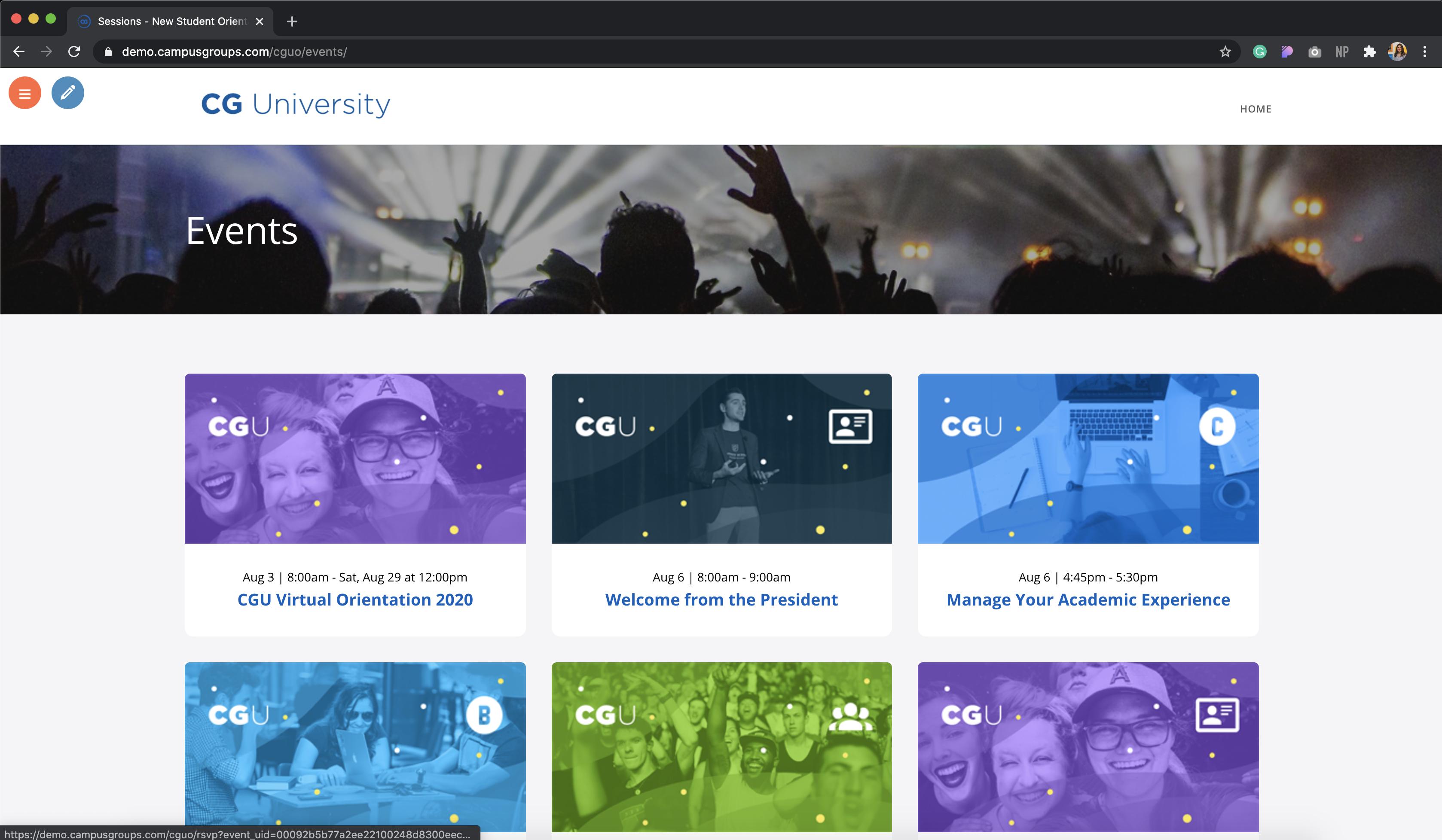 Website with custom logo