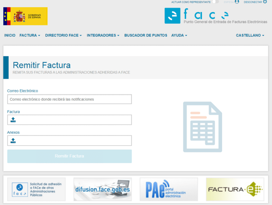 Confirmar facturae FACe
