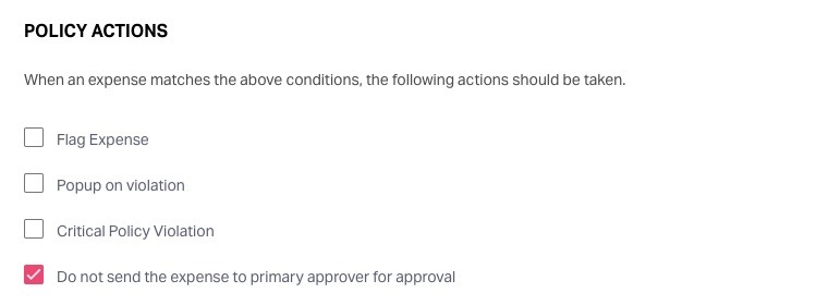 select policy actions
