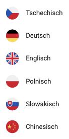 Sprachen der Software Bedienoberfläche