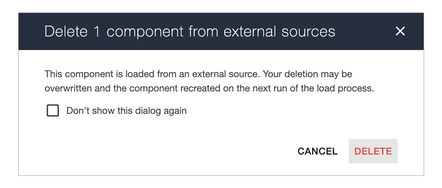 Ardoq delete component