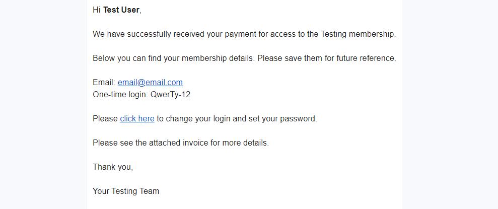 Membership area access