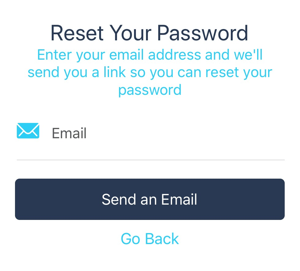 ShiftCare app password reset request