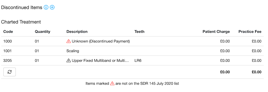 Dentally NHS Scotland Ortho submit discontinued items