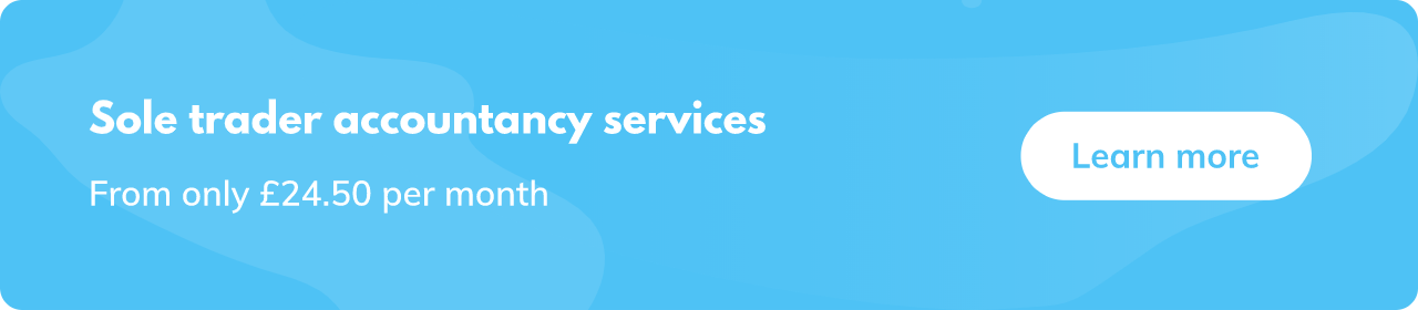 Sole trader accountancy services from £24.50 per month