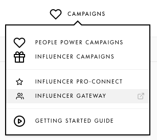 See your Influencer gateway