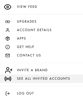 See Influencer invites in menu bar