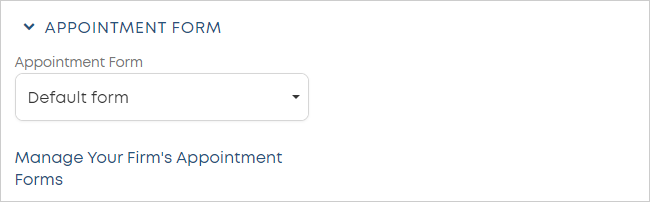 LawTap APPOINTMENT FORM section