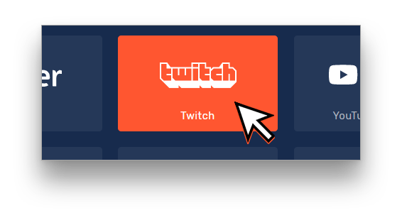 """Choose """"Twitch"""" from the Channel Listing"""