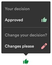 Change decision menu